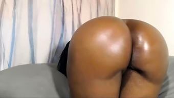 Black amateur couple in homemade close up