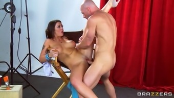 melina mason lets him rub her clit while her hand strokes his cock