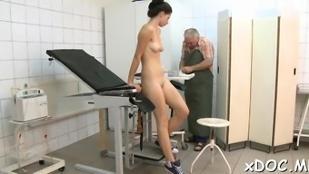 Doctor and his sexy patient had a very fine time together