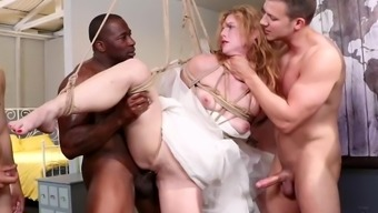 bride slut: ella nova takes 5 hard dicks right before her wedding day
