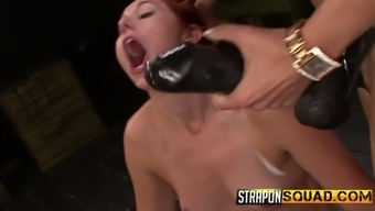Wild fetish fuck with strapon which dirty-minded bitch Rose Red Tyrell needs