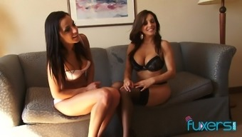 Francesca Le and Chanel White hot interracial threesome with BBC