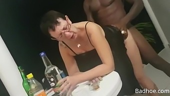 French mature fucks BBC while her friends recording
