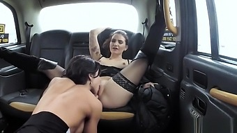 Lesbian licks and toys taxi driver