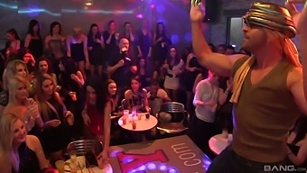 Bachelors night out turns into massive fuck fest with male strippers