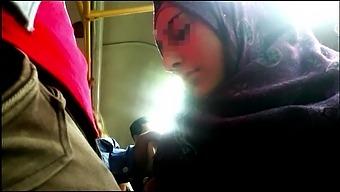 Arab Bus 15, groping a hot hijab girl