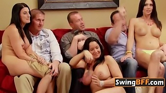 Hot swinger party ended up in a wild orgy!