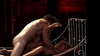 Bi male bondage and bdsm chastity tease Poor little Jade