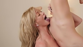 Serene Siren and Lilly Lit having nice lesbian sex on the bed