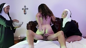 Gropu sex with a nun fetish and sluts Dana Vespoli & Julia Ann