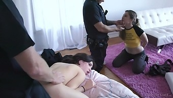 Tied up girl watches as a cop fucks her best friend Jane Wilde