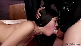 Nun makes lesbian sinner anal fist her
