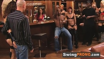 Bisexual babes are swinging and swapping