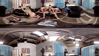 Anikka Albrite & August Ames & Adriana Sephora & Karlie Montana in Manuel Ferrara Nails Four Chicks at Once - HoloGirlsVR