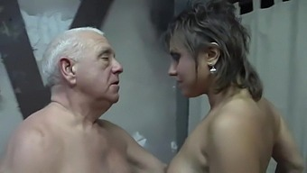 Grandpa and slutty MILF