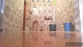 Moroccan wife cleans houses