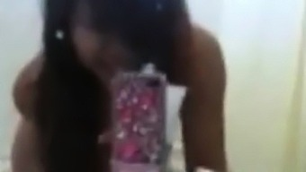 my viet ex-gf striping for a bath (very arousal)