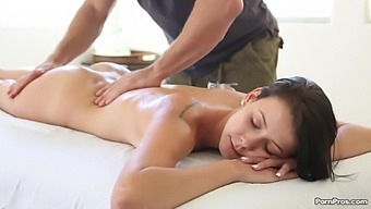 Smooth massage turns into nice humping with cute Alaina Kristar