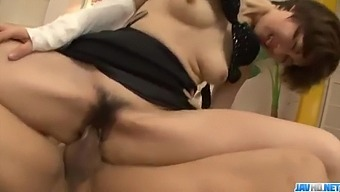 Rouhg pounding for cute office beauty Akina Hara