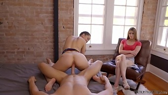 Kinky Alina Lopez riding a hard dick in front of a naughty friend
