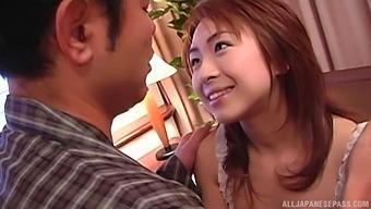 Closeup video of Japanese darling Karen Ichinose giving a BJ
